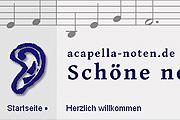 Referenz Online-Shop acapella-noten.de - Internet-Service Berlin - Webdesign, Homepage-Erstellung, Online-Shop-Erstellung
