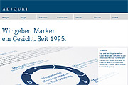 Referenz Website Adjouri Brand Consultants, Berlin - Internet-Service Berlin - Webdesign, Homepage-Erstellung, Online-Shop-Erstellung