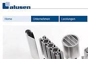 Referenz Website alusen Aluminiumprofile GmbH - Internet-Service Berlin - Webdesign, Homepage-Erstellung, Online-Shop-Erstellung