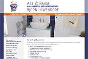 Referenz Website art & raum, Malermeister Björn Löwendorf, Berlin - Internet-Service Berlin - Webdesign, Homepage-Erstellung, Online-Shop-Erstellung