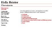 Referenz Übersetzerin Hella Beister, Berlin - Internet-Service Berlin, Webdesign, Homepage-Erstellung, Online-Shop-Erstellung