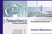 Referenz Benyskiewicz Installateurmeister, Berlin - Referenzen Internet-Service Berlin - Webdesign, Homepage-Erstellung, Online-Shop-Erstellung