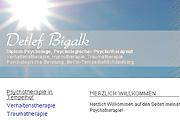 Referenz Detlef Bigalk, Psychologischer Psychotherapeut in Berlin-Tempelhof - Internet-Service Berlin - Webdesign, Homepage-Erstellung, Online-Shop-Erstellung