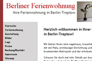 Referenz Website Berliner Ferienwohnung - Internet-Service Berlin - Webdesign, Homepage-Erstellung, Online-Shop-Erstellung