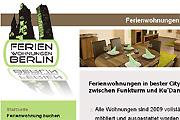 Referenz Ferienwohnungen in der Berliner City - Referenzen Internet-Service Berlin - Webdesign, Homepage-Erstellung, Online-Shop-Erstellung