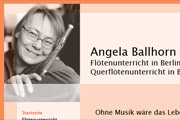 Referenz Flötenlehrerin Angela Ballhorn, Berlin-Prenzlauer Berg - Internet-Service Berlin - Webdesign, Homepage-Erstellung, Online-Shop-Erstellung