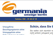Referenz Website Germania Umzüge Berlin - Internet-Service Berlin - Webdesign, Homepage-Erstellung, Online-Shop-Erstellung