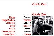 Referenz Gisela Zies, Autorin, Berlin - Internet-Service Berlin - Webdesign, Homepage-Erstellung, Online-Shop-Erstellung