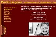 Referenz Gitarrenlehrer Martin Siegener, Berlin - Internet-Service Berlin, Webdesign, Homepage-Erstellung, Online-Shop-Erstellung