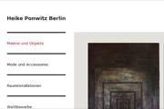Referenz Website der KünstlerinHeike Ponwitz, Berlin - Internet-Service Berlin - Webdesign, Homepage-Erstellung, Online-Shop-Erstellung