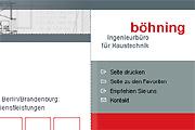 Referenz Ingenieurbüro Böhning, Berlin - Referenzen Internet-Service Berlin - Webdesign, Homepage-Erstellung, Online-Shop-Erstellung
