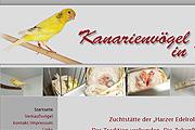 Referenz Kanarienvögel in Berlin  - Internet-Service Berlin - Webdesign, Homepage-Erstellung, Online-Shop-Erstellung