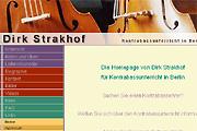 Referenz Dirk Strakhof, Kontrabassunterricht in Berlin - Internet-Service Berlin - Webdesign, Homepage-Erstellung, Online-Shop-Erstellung