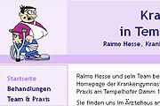 Referenz Krankengymnastik Berlin-Tempelhof, Raimo Hesse - Internet-Service Berlin - Webdesign, Homepage-Erstellung, Online-Shop-Erstellung