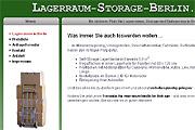Referenz Lagerraum & Storage in Berlin - Referenzen Internet-Service Berlin - Webdesign, Homepage-Erstellung, Online-Shop-Erstellung