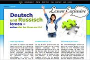 Referenz Lesson Exclusive, Deutsch und Russisch online lernen - Internet-Service Berlin - Webdesign, Homepage-Erstellung, Online-Shop-Erstellung