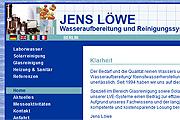 Referenz Website Jens Löwe Wasseraufbereitung und Reinigungssysteme, Berlin - Internet-Service Berlin - Webdesign, Homepage-Erstellung, Online-Shop-Erstellung