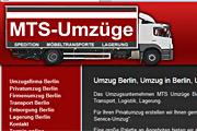 Referenz Website MTS-Umzüge, Berlin - Internet-Service Berlin - Webdesign, Homepage-Erstellung, Online-Shop-Erstellung
