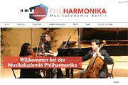 Referenz Website der Musikakademie Philharmonika - Internet-Service Berlin - Webdesign, Homepage-Erstellung, Online-Shop-Erstellung