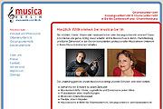 Referenz Musikschule musica Berlin - Internet-Service Berlin, Webdesign, Homepage-Erstellung, Online-Shop-Erstellung