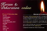 Referenz Online Shop Kerzen und Dekoration online kaufen - Referenzen Internet-Service Berlin - Webdesign, Homepage-Erstellung, Online-Shop-Erstellung
