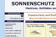 Referenz Online Shop Sonnenschutz und Markisen - Referenzen Internet-Service Berlin - Webdesign, Homepage-Erstellung, Online-Shop-Erstellung