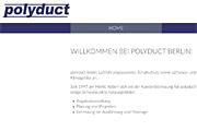 Referenz Polyduct Lüftungstechnik, Berlin - Referenzen Internet-Service Berlin - Webdesign, Homepage-Erstellung, Online-Shop-Erstellung