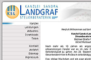 Referenz Website Steuerberaterin Landgraf, Sachsen-Anhalt - Internet-Service Berlin - Webdesign, Homepage-Erstellung, Online-Shop-Erstellung