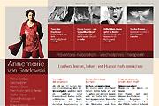 Referenz WebsiteAnnemarie von Gradowski, Gesunheitsvorträge - Internet-Service Berlin, Webdesign, Homepage-Erstellung, Online-Shop-Erstellung