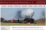 Referenz Website Berliner Eisenbahnfreunde e. V. - Webdesign, Homepage-Erstellung, Online-Shop-Erstellung