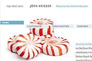 Referenz Website Zahnarzt Jörn Krieger, Berlin - Internet-Service Berlin, Webdesign, Homepage-Erstellung, Online-Shop-Erstellung