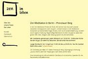Referenz Website Zen im Leben, Meditation, Berlin - Internet-Service Berlin, Webdesign, Homepage-Erstellung, Online-Shop-Erstellung