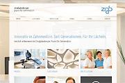 Referenz Website Zahnarztpraxis Zigelgänsberger - Internet-Service Berlin, Webdesign, Homepage-Erstellung, Online-Shop-Erstellung